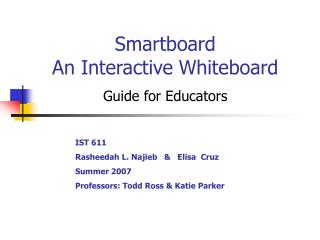 Smartboard An Interactive Whiteboard