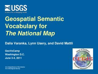 Geospatial Semantic Vocabulary for  The National Map