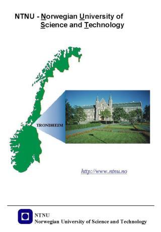 NTNU -  N orwegian  U niversity of S cience and  T echnology