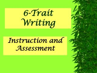 6-Trait Writing