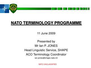 NATO TERMINOLOGY PROGRAMME