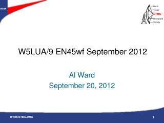 W5LUA/9 EN45wf September 2012
