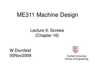 ME311 Machine Design