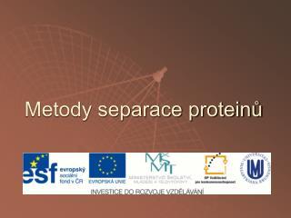 Metody separace proteinů