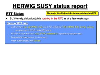 HERWIG SUSY status report