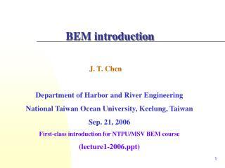 BEM introduction