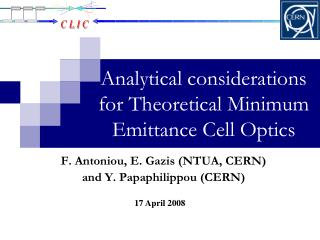 Analytical considerations for Theoretical Minimum Emittance Cell Optics