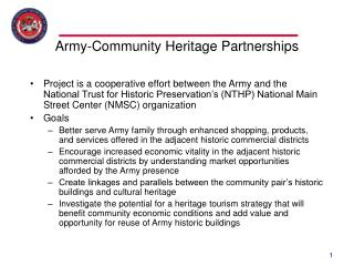 Army-Community Heritage Partnerships