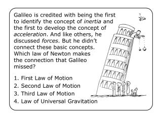 1. First Law of Motion 2. Second Law of Motion 3. Third Law of Motion