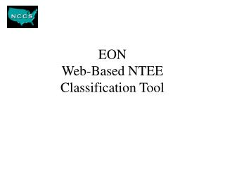 EON  Web-Based NTEE  Classification Tool
