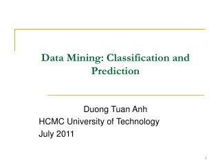 Chapter 2  Data Mining: Classification and Prediction