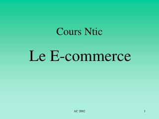 Cours Ntic