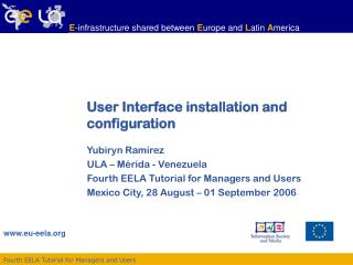 User Interface installation and configuration