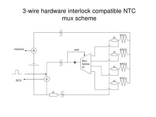 3-wire hardware interlock compatible NTC mux scheme