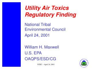 Utility Air Toxics Regulatory Finding