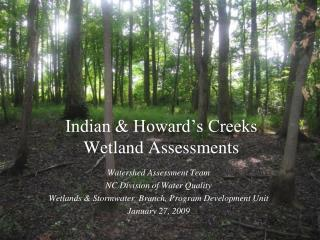 Indian & Howard's Creeks  Wetland Assessments