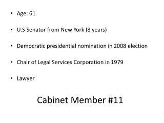 Cabinet Member #11