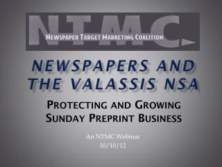 Newspapers and the Valassis NSA