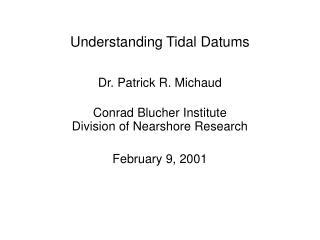 Understanding Tidal Datums