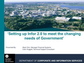 'Setting up Infor 2.0 to meet the changing needs of Government'
