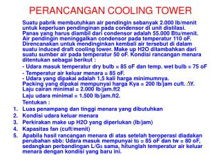 PERANCANGAN COOLING TOWER