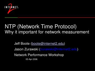 NTP (Network Time Protocol) Why it important for network measurement