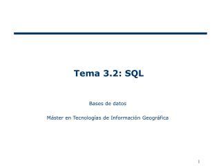 Tema 3.2: SQL