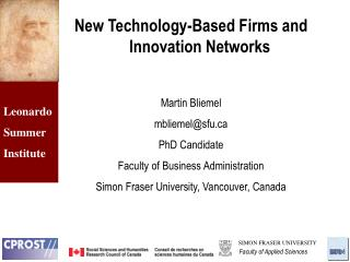 New Technology-Based Firms and Innovation Networks