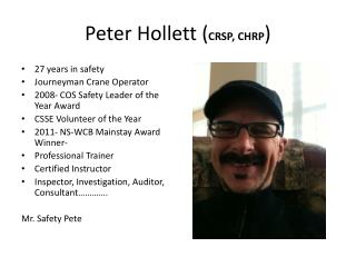 Peter Hollett ( CRSP, CHRP )