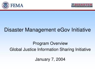 Disaster Management eGov Initiative