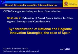 OECD- Gwangju  Workshop on Smart Specialization
