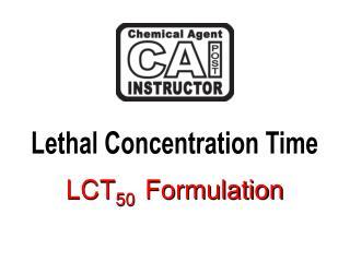 LCT 50   Formulation