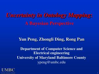 Uncertainty in Ontology Mapping:  A Bayesian Perspective