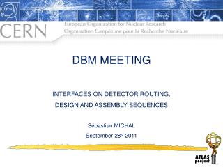 DBM MEETING INTERFACES ON DETECTOR ROUTING, DESIGN AND ASSEMBLY SEQUENCES Sébastien MICHAL