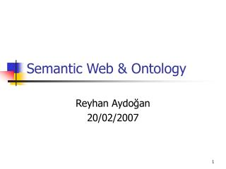 Semantic Web  Ontology
