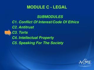 MODULE C - LEGAL