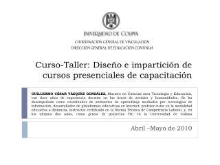 Abril –Mayo de 2010