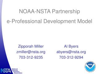 NOAA-NSTA Partnership e-Professional Development Model