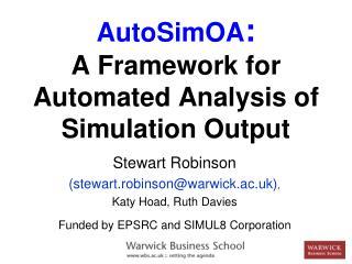 AutoSimOA : A Framework for Automated Analysis of Simulation Output