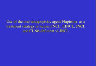 APOPTOTIC DEFECTS IN NCL
