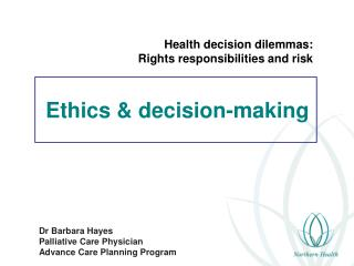 Ethics & decision-making