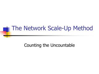 The Network Scale-Up Method