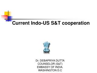 Current Indo-US S&T cooperation