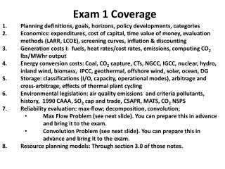 Exam 1 Coverage