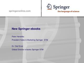 New Springer ebooks