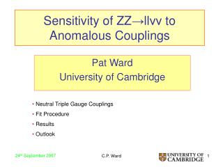 Sensitivity of ZZ → ll νν  to Anomalous Couplings
