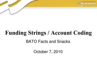 Funding Strings / Account Coding