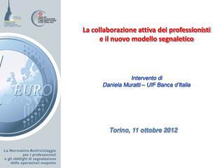 Torino, 11 ottobre 2012