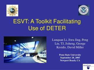 ESVT: A Toolkit Facilitating Use of DETER