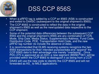 DSS CCP 856S